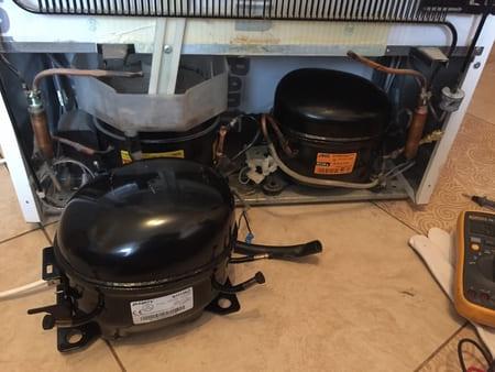 Замена компрессора, заправка и герметизация холодильника Норд